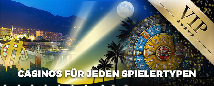 Casinos nach Spielertypen